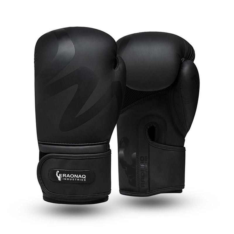 Boxing Gloves, Black Matt Finish